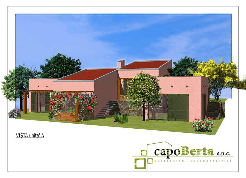 Semidetached Villas Eco Friendly:Render Unit A