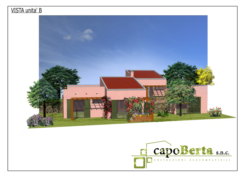 Semidetached Villas Eco Friendly:Render Unit B